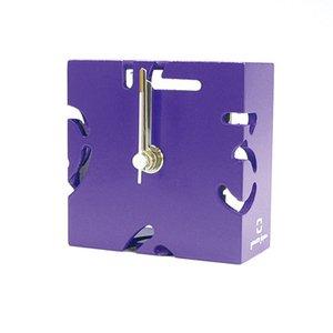 【ヤマト工芸】置き時計PUZZLEMINI(紫色)・YK10-106Pl