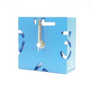 【ヤマト工芸】置き時計PUZZLEMINI(水色)・YK10-106Lbl