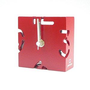 【ヤマト工芸】置き時計PUZZLEMINI(赤色)・YK10-106Rd