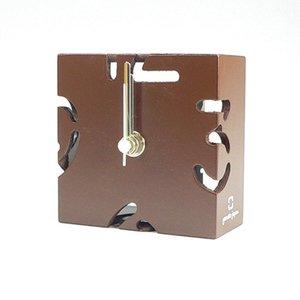 【ヤマト工芸】置き時計PUZZLEMINI(茶色)・YK10-106Br
