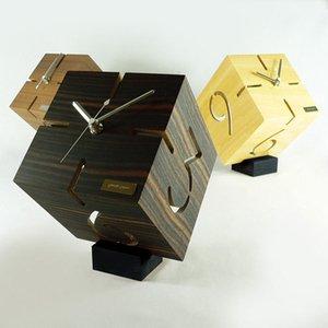 【ヤマト工芸】置き時計PUZZLESTANDTYPEM(ウォールナット)・YK09-106Wn