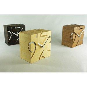 【ヤマト工芸】置き時計PUZZLESTANDTYPES(ウォールナット)・YK09-107Wn