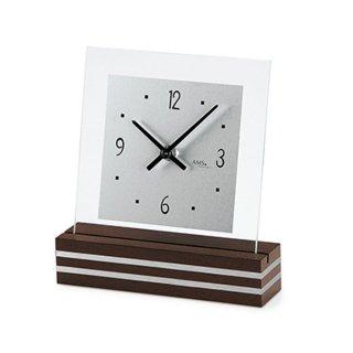 【AMS】置き時計 Funkuhren(ウォルナット)・AMS1106