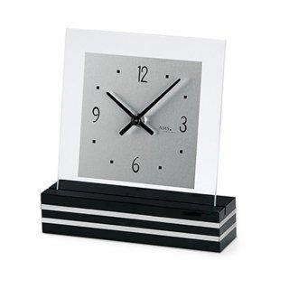 【AMS】置き時計 Funkuhren(ブラック)・AMS1107
