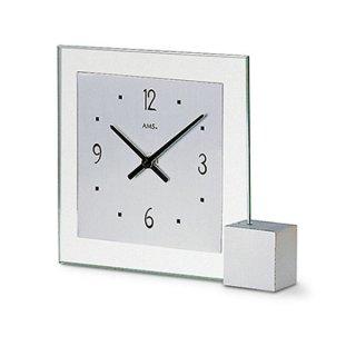 【AMS】置き時計 Funkuhren(シルバー)・AMS102
