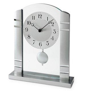 【AMS】置き時計 Funkuhren(シルバー)・AMS1118