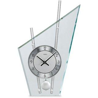 【AMS】置き時計 Funkuhren(シルバー)・AMS153