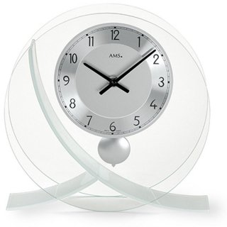 【AMS】置き時計 Funkuhren(シルバー)・AMS161