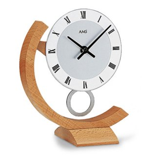 【AMS】置き時計 Funkuhren(ビーチ)・AMS163