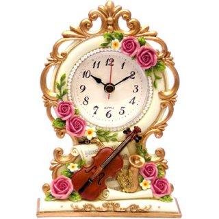 【GOLDCREST】置き時計シンフォニー(ホワイト)・GO-1217
