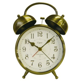 【Capito】置き時計 RC Double Bell Alarm Clock(ブラス ブロンズ)・CP-RC-W_BGD