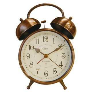 【Capito】置き時計 RC Double Bell Alarm Clock(ブラス ブロンズ)・CP-RC-W_BBZ