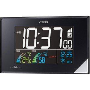 【CITIZEN】デジタル時計AC電源式パルデジットネオン119(黒)・8RZ119-002