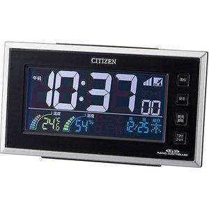 【CITIZEN】デジタル時計AC電源式パルデジットネオン121(黒)・8RZ121-002
