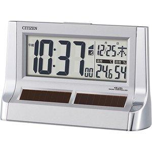 【CITIZEN】デジタル時計ソーラー電源電波時計パルデジットソーラーR128(シルバーメタリック色)・8RZ128-019