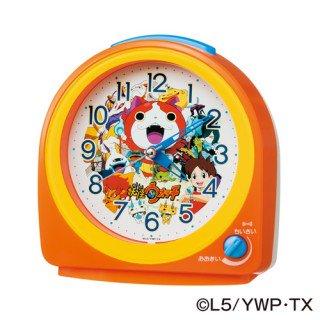 【キャラクタークロック】目覚まし時計 妖怪ウォッチ(オレンジ塗装)・CQ138E