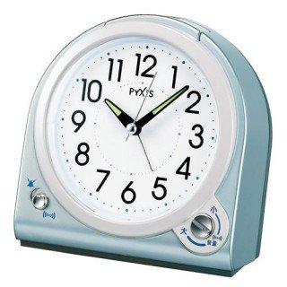 【PYXIS】目覚まし時計 ピクシス(青メタリック塗装)・NQ705L