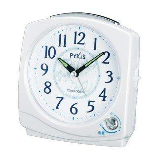 【PYXIS】目覚まし時計 ピクシス(白パール塗装)・NQ707W