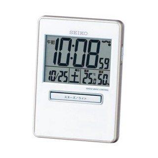 【SEIKO】デジタル時計 トラベラ(白パール)・SQ699W