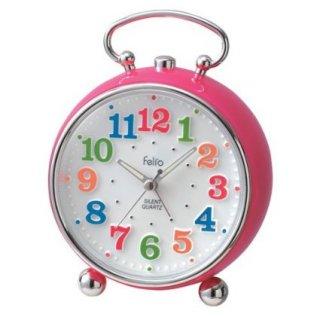 【Felio】置き時計 カラーズ トイクロック(ピンク)・FEA149PK