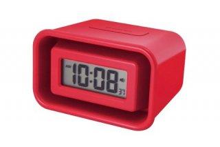 在庫限り!【IDEA LABEL】イデアレーベル 置き時計 電波大音量アラームクロック メガホン(レッド)・LCR091-RD