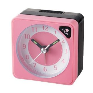 在庫限り!【IDEA LABEL】イデアレーベル 置き時計 アナログアラームクロックMINI(ピンク)・LCA059-P