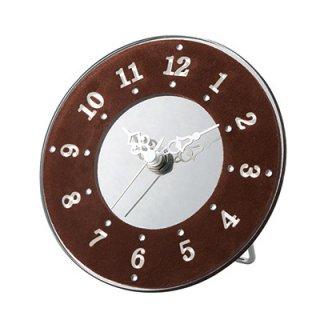 【インターフォルム】置き時計 MARE[メア](ブラウン)・CL-3572BN