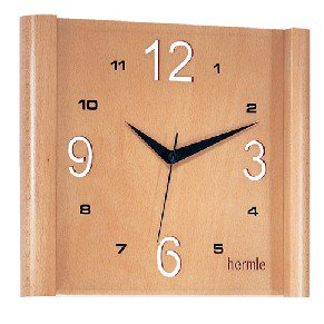 【Hermle】掛け時計 SCOOP(ブラウン)・30679-3821
