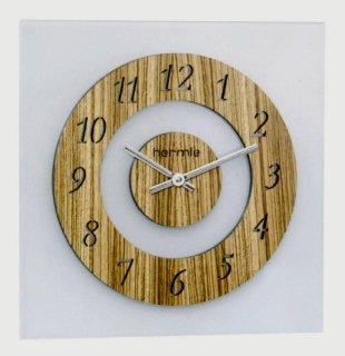 【Hermle】掛け時計 ZEBRANO RW(ナチュラルブラウン)・30824-3421