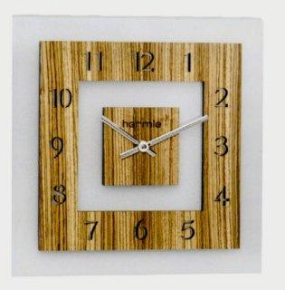 【Hermle】掛け時計 ZEBRANO SW(ナチュラルブラウン)・30825-3421