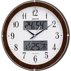 【RHYTHM】掛け時計夜間自動点灯機能付ピュアカレンダー622(木目仕上(白))・4FY622SR23