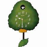 【RHYTHM】掛け時計カッコークロックグレイスカッコー413R(緑半艶仕上(緑))・4MJ413RH05