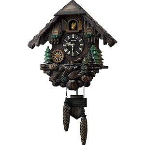 【RHYTHM】掛け時計カッコークロックカッコーヴァルト(濃茶ボカシ木地仕上)・4MJ422SR06