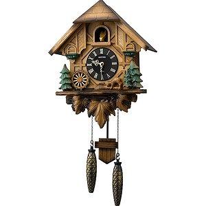 【RHYTHM】掛け時計カッコークロックカッコーティンバー(濃茶ボカシ木地仕上)・4MJ423SR06