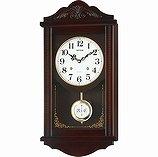 【RHYTHM】掛け時計報時時計アタシュマンR(茶色半艶仕上(白))・4MJA01RH06