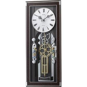 【RHYTHM】掛け時計振子時計ソフィアーレプリモ(木目仕上(白))・4MN535SR23