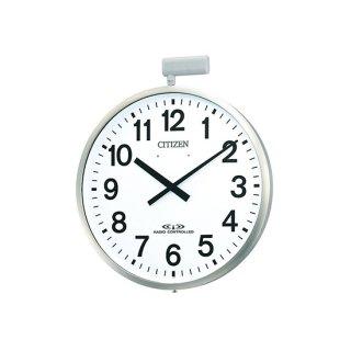 【CITIZEN】掛け時計ポール時計ポールウェーブSF(銀色ヘアライン仕上)・4MY611-N19