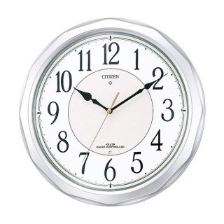 【CITIZEN】掛け時計スタンダードネムリーナサニー(シルバーメタリック色(白))・4MY642-019