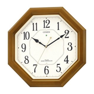 【CITIZEN】掛け時計スタンダードネムリーナルック(薄茶半艶仕上)・4MY645-006