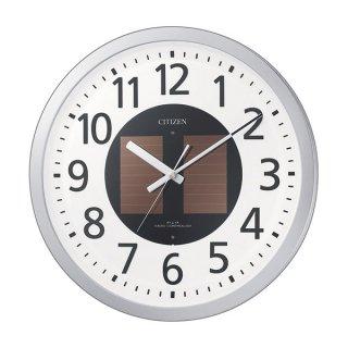 【CITIZEN】掛け時計ソーラー電源エコライフM815(シルバーメタリック色)・4MY815-019
