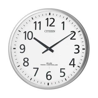 【CITIZEN】掛け時計3電波対応(スリーウェイブ)スリーウェイブM821(銀色ヘアライン仕上(白))・4MY821-019