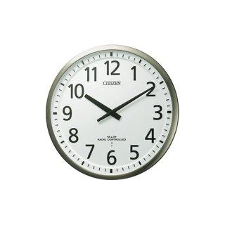 【CITIZEN】掛け時計3電波対応(スリーウェイブ)スリーウェイブM839(銀色ヘアライン仕上(白))・4MY839-019