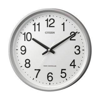 【CITIZEN】掛け時計スタンダードサークルポート(シルバーメタリック色(白))・4MYA24-019