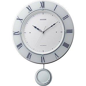 【RHYTHM】掛け時計振子時計トライメテオ(白(白))・8MX402SR03