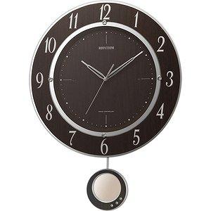 【RHYTHM】掛け時計振子時計トライメテオDX(木目仕上(茶色))・8MX403SR23