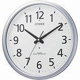 【CITIZEN】掛け時計オフィスタイプスペイシーアクア493(シルバーメタリック色(白))・8MY493-019