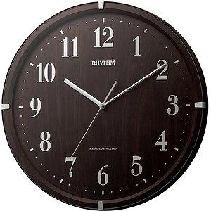 【RHYTHM】掛け時計スタンダードライブリーアリス(茶色木目仕上(茶色))・8MY501SR06
