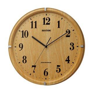 【RHYTHM】掛け時計スタンダードライブリーアリス(薄茶木目仕上(薄茶))・8MY501SR07