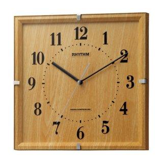 【RHYTHM】掛け時計スタンダードライブリーエミリ(薄茶木目仕上(薄茶))・8MY502SR07
