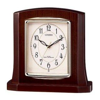 【RHYTHM】置き時計ポール式時計パルロワイエR406SR(高級光沢仕上(アイボリー))・8RY406SR06